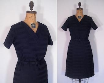 1960s minimalist mod party dress • 60s mid-century black dress • vintage lbd • vintage British Lady dress