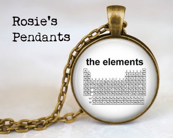 Chemistry elemental etsy periodic table of the elements science jewelry urtaz Image collections