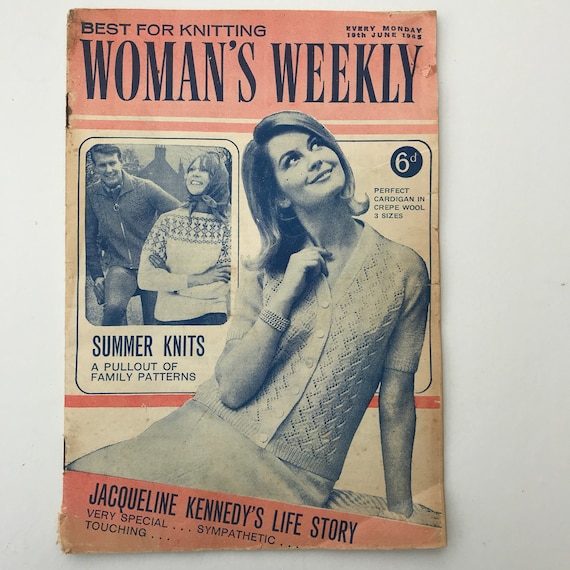 Vintage Magazine Womans Weekly Ladies Fashion And Craft