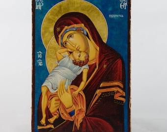 Christian Icon Madonna with Jesus, Virgin Mary, catholic icons and orthodox icons