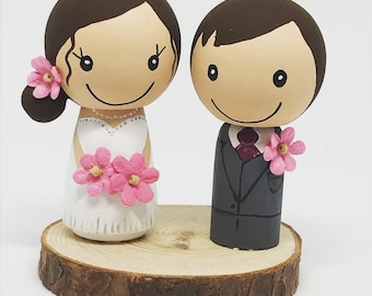 Peg Doll Wedding Cake Toppers or Gift