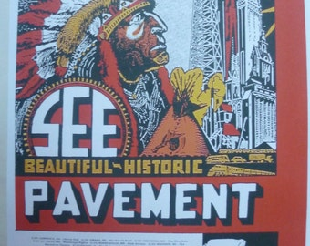Pavement U.S. Tour, 1996 - Poster (35cm x 25cm)