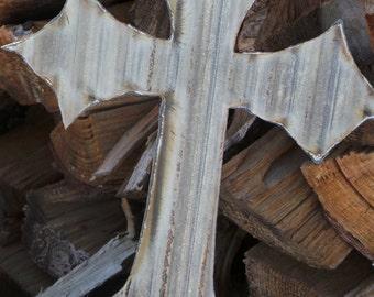 Corrugated Metal  Cross FREE SHIPPING