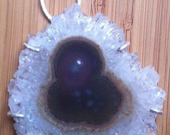 Pendentif de quartz Stalactite tranche