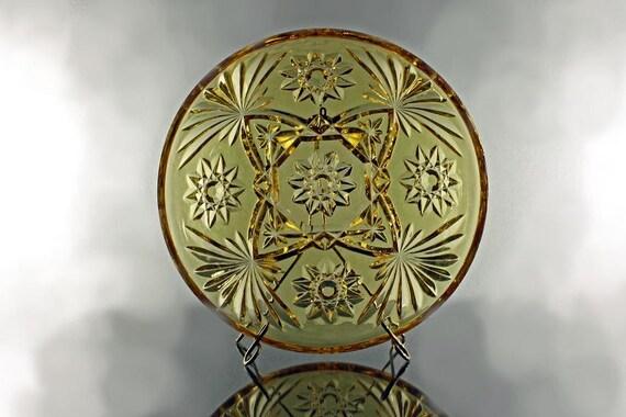Anchor Hocking, Bowl, Prescut Amber, Star of David Pattern