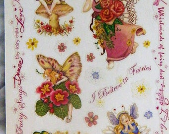 PSX sticker border/x;g panel, MAGICAL FAIRIES, rare/htf