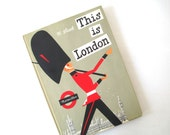This Is London by M Sasek, Mis Cetnury 1960s Illustrated Childrens Travel Book