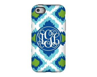 iPhone case, Ikat, Personalized iPhone 8, iPhone 7, iPhone 6 Tin Tree Gifts Monogram Gift for Women