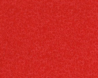 RJR Patrick Lose Basically Patrick Red Bubble Suds Fabric 2070-002 BTY