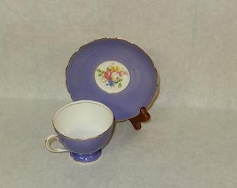 Vintage Purple Tea Cup and Saucer