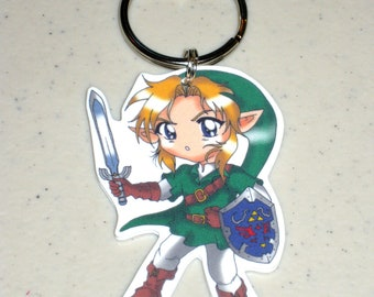 Link - Legend of Zelda Keychain, Charm, Necklace, Earrings, Stickers, Tattoos, Embroidered Patch, Magnets