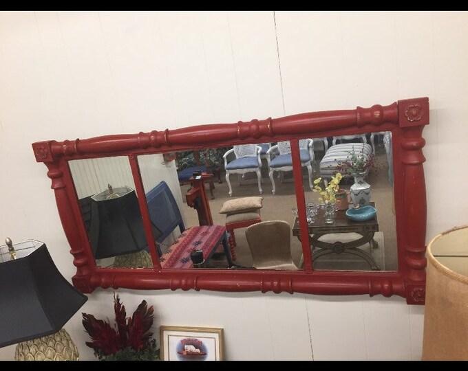 Vintage Red Painted Federal Mirror