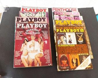 Vintage Playboy Magazines from 1970s, Mens Magazine, Mens Entertaiment, Adult Magazine, Marilyn Monroe Playboy, Star Trek, MATURE Content
