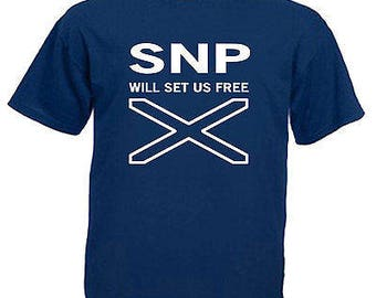 Snp will set you free adults mens t shirt 12 colours size s - 3xl