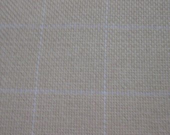 1 yard of cotton monks cloth (2 X 2 grid) for rug hooking or punch needle