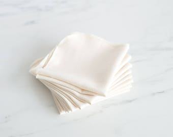 FREE -- RECEIVE 4 ADDITIONAL! Organic Unpaper Towel Cotton Birdseye with Eggshell edge - Set of 36
