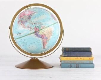 Vintage Globe Globe Vintage 1970's Globe Replogle World Nation Globe Desktop Globe Tabletop Globe Old Globe Globe World Globe