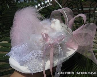 ring bearer nest, pink & white ring bearer pillow revisited
