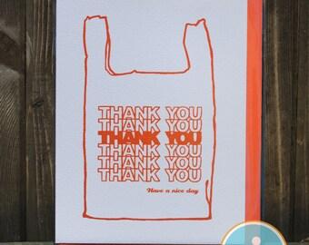 Thank You Bag - Thank You Card