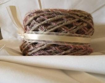 Hand spun 3 ply wool yarn
