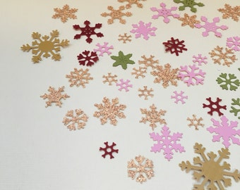 Snowflake Confetti Table Scatter Die Cuts 8 Different Snowflake Patterns