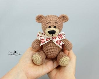 Christmas teddy bear in Scandinavian style Nordic Christmas bear Christmas gift Nordic Xmas decor Stocking filler Stuffed animal