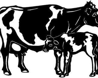 Holstein Cow Die-Cut Decal Car Window Wall Bumper Phone Laptop