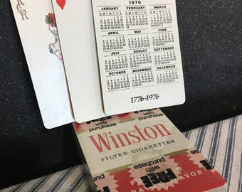 Winston Cigarettes US Bicentennial Playing Cards - Sealed