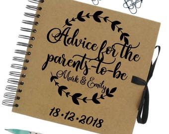 Advice for parents to be notebook   New baby journal   New baby journal   Mum to journal   Baby shower gift   Anniversary notes