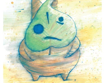 Makar Legend of Zelda Wind Waker Watercolor 8x10 Art Print