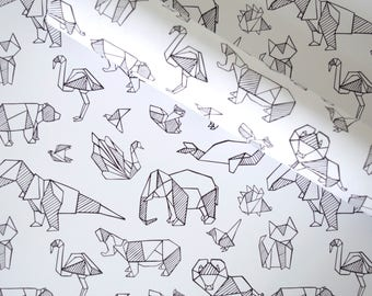 Gift Wrap - Origami Animals