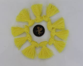 10 yellow pineapple tassel 25 mm charms - jewelry