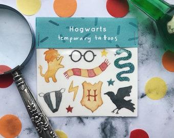 Harry Potter Hogwarts // Temporary Tattoos //