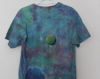 Large Size Tie Dye Galaxy Shirt