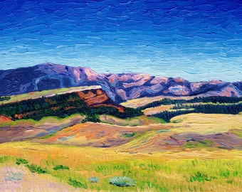 Giclee Print, Wyoming Countryside, 6 x 8 in.