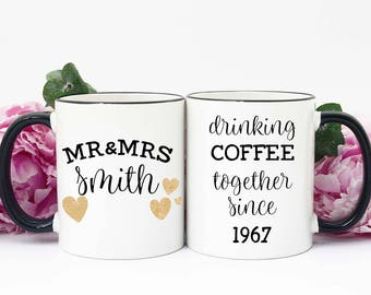 50th Anniversary Gift, Gift for 50th Anniversary, 50th Anniversary Gift for Parents, 50th Wedding Anniversary, Golden Anniversary, Mug