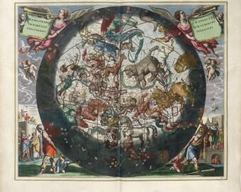 Moon poster, Moon, Astrology, Zodiac map, Astronomy, Zodiac constellation, 210