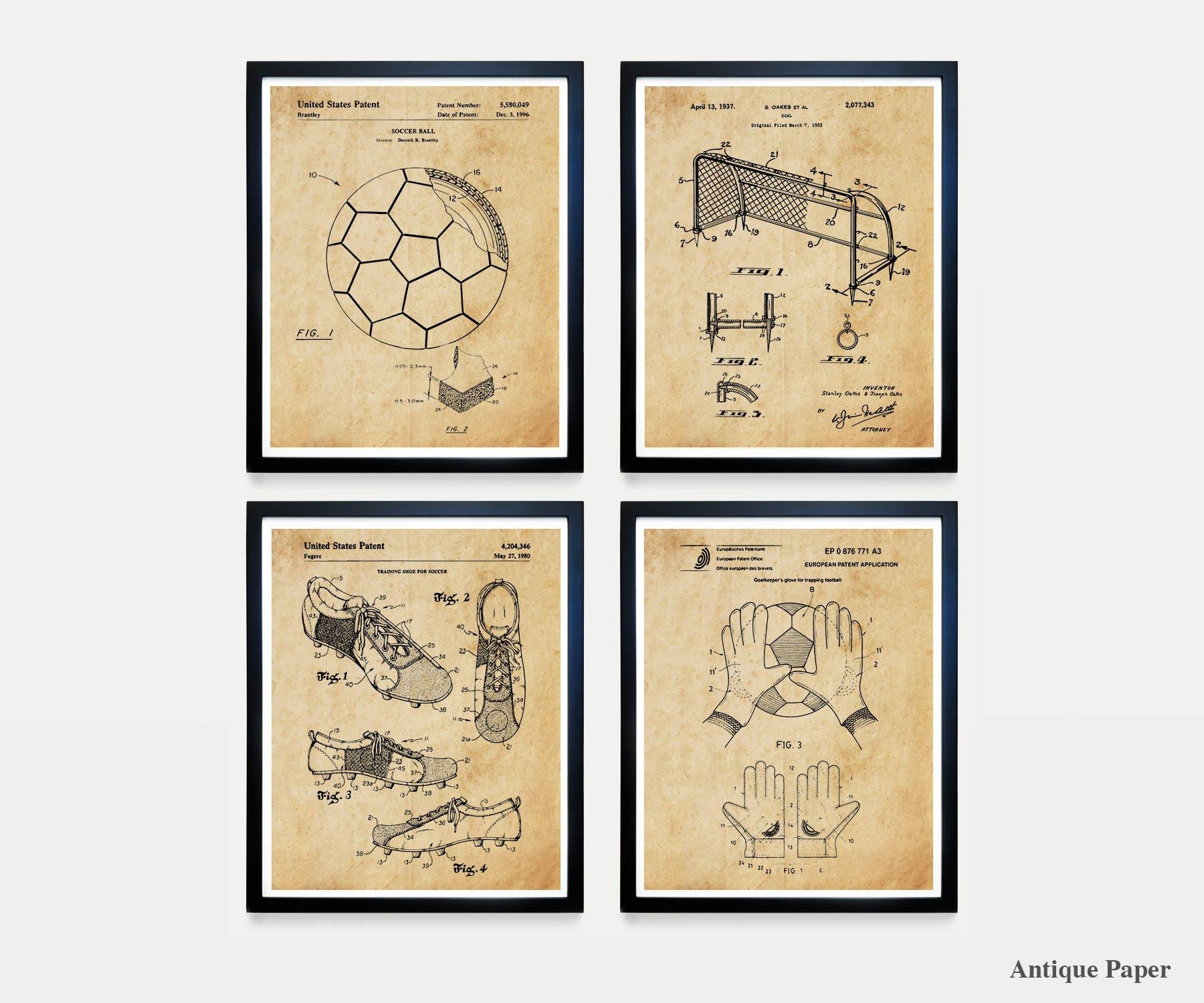 Soccer Patent Art - Soccer Poster - Football Patent - Soccer Wall ...