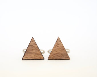 Australian Wandoo Cufflinks - Triangle cufflinks cut from recycled Australian wood