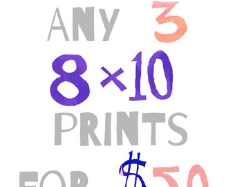 Sale-Set of 3 8 x 10 Prints