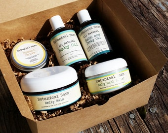 Baby Shower Gift Set - New Mom Gift - New Baby Gift - Baby Bath Set - Maternity Gift Set - Belly Balm - Diaper Rash Ointment