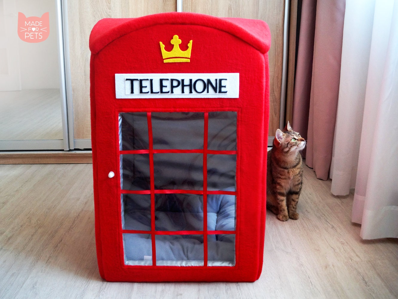 London Telephone Booth Cat House Red Phone Box Cat Furniture