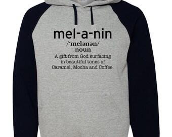 Melanin Defined Raglan Hoodie