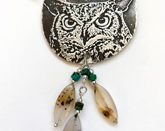 What a hoot sterling silver owl necklace