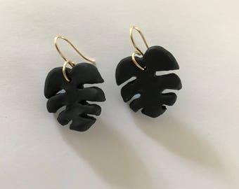Monstera Earrings