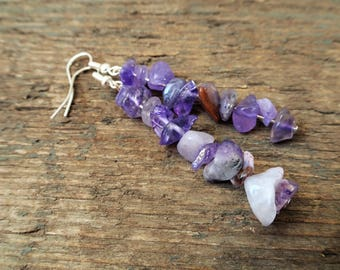 Amethyst Earrings, amethyst jewelry, purple earrings, gemstone earrings, february birthstone, dangle earrings, amethyst, birthstone earrings