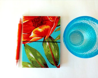 Traveler's Notebook A6 blue midori fabric fauxdori