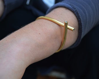 geometric bracelet,statement gold bracelet,architectural cuff bracelet,onyx bracelet,contemporary jewelry,designed bracelet,gift for her
