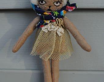 Art Doll / Brooch / Ornament / OOAK Deer Doll