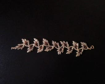 Bracelet gold and Brown fall leaves